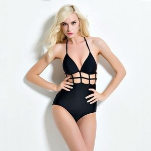 Other - 1 size S & 1 M Monokini Black Cut-out One Piece